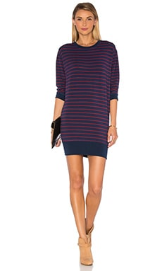 Spiritual Gangster Stripe Muse Dress in Currant & Navy