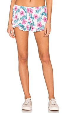 Spiritual Gangster Ruffle Short in Hibiscus Multi
