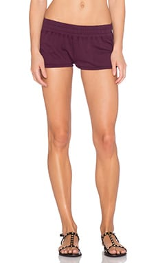 Spiritual Gangster Retro Gym Short in Black Cherry