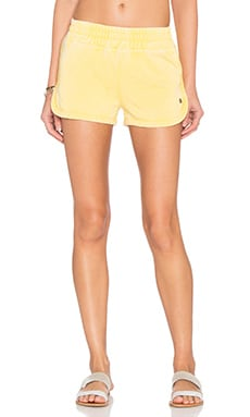 Sunshine Burnout Retro Gym Short in Sunshine