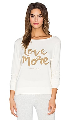 Spiritual Gangster Love More Savasana Sweater in Stardust