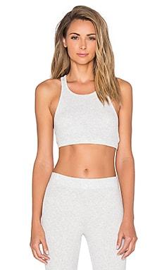Spiritual Gangster Athletic Cut Bra Top in Ash