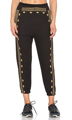 Lotus Pattern Harem Sweatpant