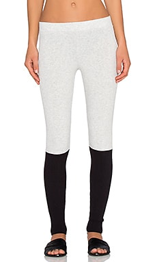 Spiritual Gangster Ballet Legging in Ash Grey & Black