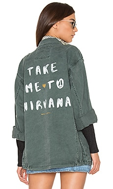 BLOUSON MILITAIRE TAKE ME TO NIRVANA