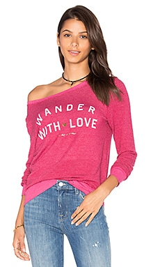 Wander With Love Pullover en Goji Berry