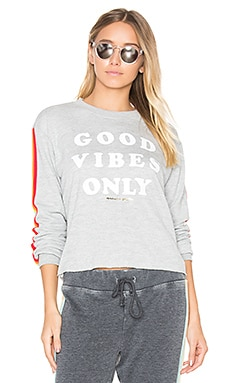 Good Vibes Only Sweatshirt in Heather Grey