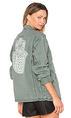 Henna Hamsa Jacket in Smokey Emerald