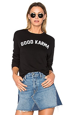 Good Karma Arch Sweatshirt in Vintage-Schwarz