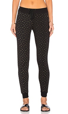 Spiritual Gangster Mini Star Print Muse Sweatpant in Vintage Black Print