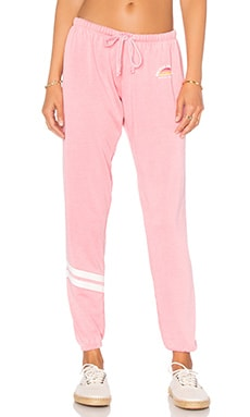 Spiritual Gangster Salute The Sun Gradient Burnout Favorite Sweatpant in Neon Coral