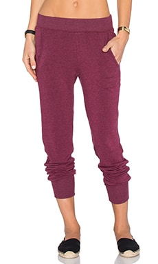 Spiritual Gangster Laguna Sweatpant in Currant