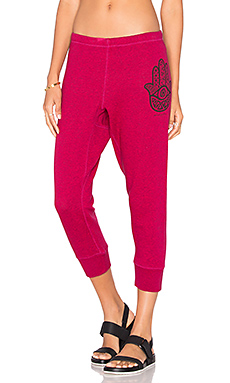 Hamsa Eye Sweatpant in Goji Berry