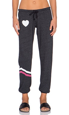 Spiritual Gangster Love Heart Sweatpant in Vintage Black