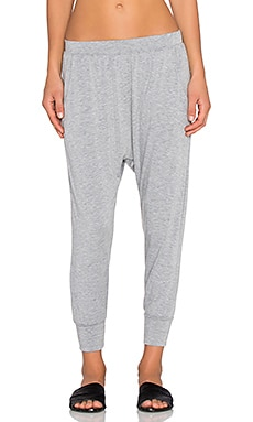 Crop Harem Pant in Heather Grey