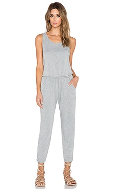 Spiritual Gangster Summer Jumpsuit in Heather Grey