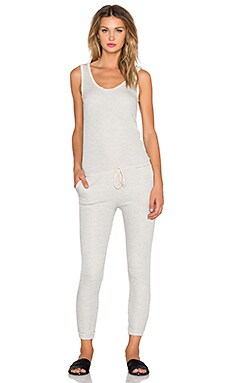Spiritual Gangster Malibu Jumpsuit in Heather Grey