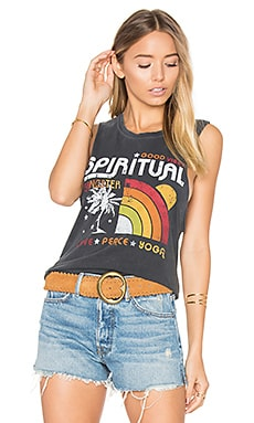 Rainbow Sunset Tank in Vintage Black