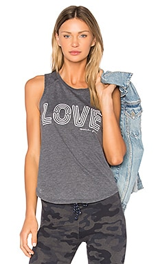 Neon Love Tank in Vintage Black
