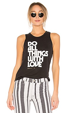 Do All With Love Burnout Studio Tank