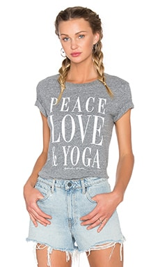 Spiritual Gangster Peace Love & Yoga Vintage Gym Tee in Heather Grey