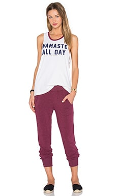 Spiritual Gangster Namaste All Day Tank in Cement