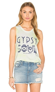 Gypsy Soul Tribal Muscle Tank in Sunkissed Wash
