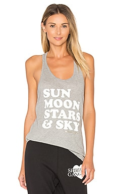 Sun Moon Stars Tank in Heather Grey