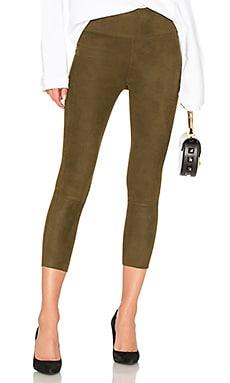 Suede high waist crop legging - SPRWMN