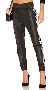 Кожаные брюки-джогеры - SPRWMN