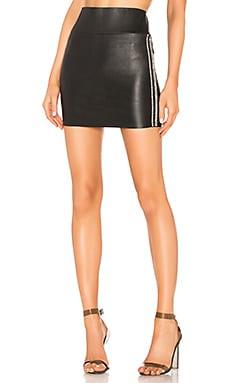 Leather Rhinestone Stripe Mini Skirt SPRWMN $247
