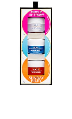 LOT HYDRATANT MINI MOISTURIZER TRIO Sunday Riley $20 BEST SELLER