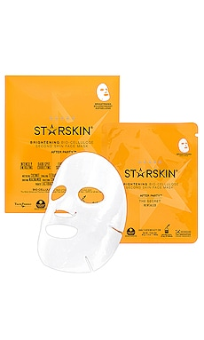 After Party Brightening Bio-Cellulose Second Skin Face Mask STARSKIN $10 BEST SELLER