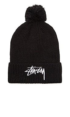 Stussy Stock FA15 Pom Beanie in Black