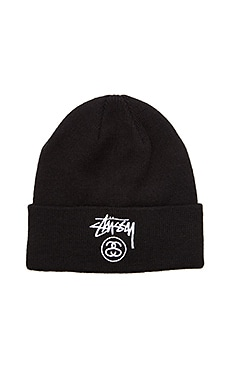Stussy Stock Lock FA15 Beanie in Black