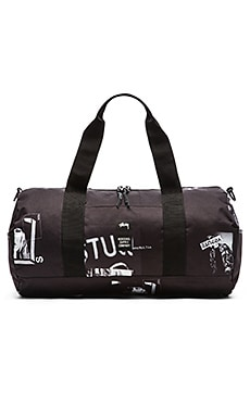 Stussy x Herschel Placement Print Duffle in Black