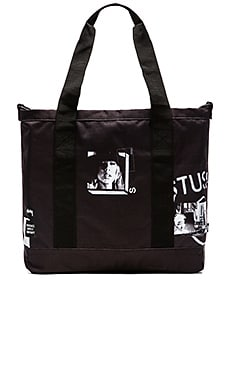 Stussy x Herschel Placement Print Tote in Black