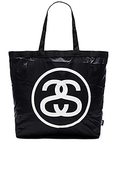 Stussy Packable Tote Bag in Black