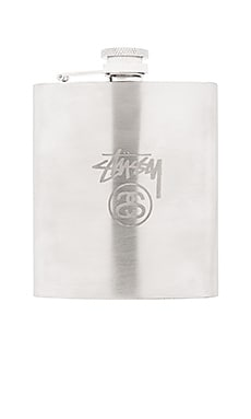 Stussy Stock Lock Flask in Silver