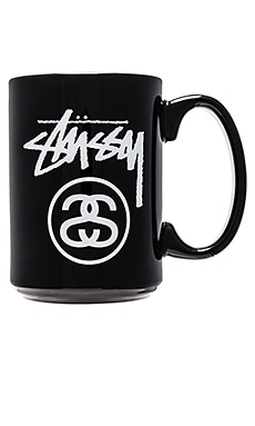 Stussy Stock Lock Mug in Black