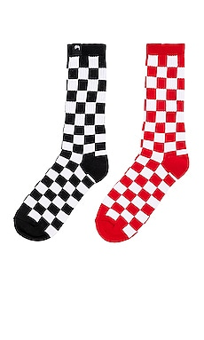 Checker Sock Pack Stussy $24