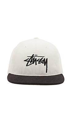 Stussy Stock Wool FA15 Strapback in White