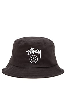 Stussy Stock Lock SU15 Bucket Hat in Black