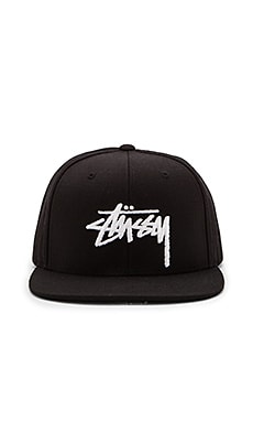 Stussy Stock FA15 Snapback in Black