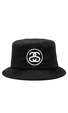 Stussy SS Link HO15 Bucket Hat in Black