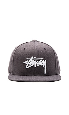 Stussy Stock HO15 Snapback in Charcoal Heather