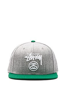 Stussy Stock Lock HO15 Snapback in Grey Heather