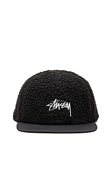 Stussy Berber Fleece Cap in Black