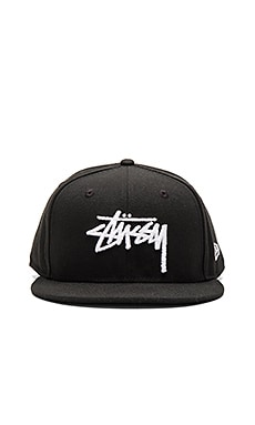 Stussy Stock HO15 New Era Ballcap in Black