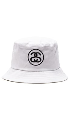 Stussy SS Link SP16 Bucket Hat in White